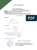 Plane & Solid Geometry Handouts
