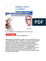 C. Suntharalingam, Part II  Grandfather's Letters.docx