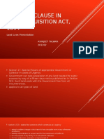 Urgency Clause in Land Acquisition Act, 1894