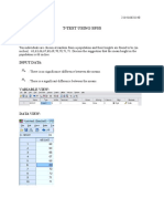 T TEST SPSS