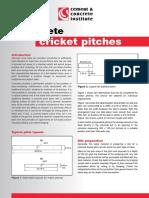Concrete Cricket Pitches