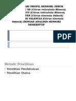 Mempelajari Profil Sensori Jeruk Keprok Batu 55 (
