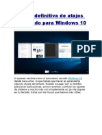 Atajos de Teclado Para Windows10