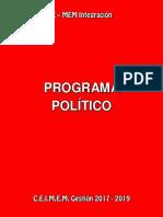 Xmem Integracion - Programa Político