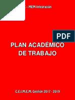 Xmem Integracion - Plan Academico de Trabajo