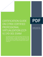 Certification Prep Guide and Exam Summary on Citrix 1Y0-301 Exam
