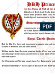 2013-04-03 Letters Patent - Templar Royal Protection - King David of Mann - Kingdom of Mann