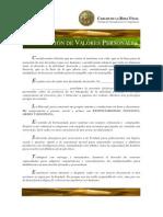Declaración de Valores Personales e Inteligencia Ética - Carlos de la Rosa Vidal