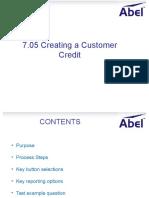 7.05 Create Customer Credit
