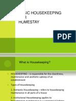 Basic Housekeeping for Homestay