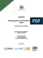 Uganda Demographic and Health Survey 2016 - Key indicator report
