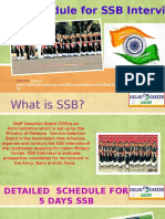 5 Days Schedule for SSB Interview