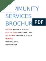 Community Services Brochure