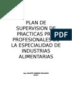Plan de Supervision de Practicas Pre Profesionales 2015