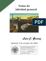 Apuntes Garay - Relatividad General - Universidad Complutense de Madrid