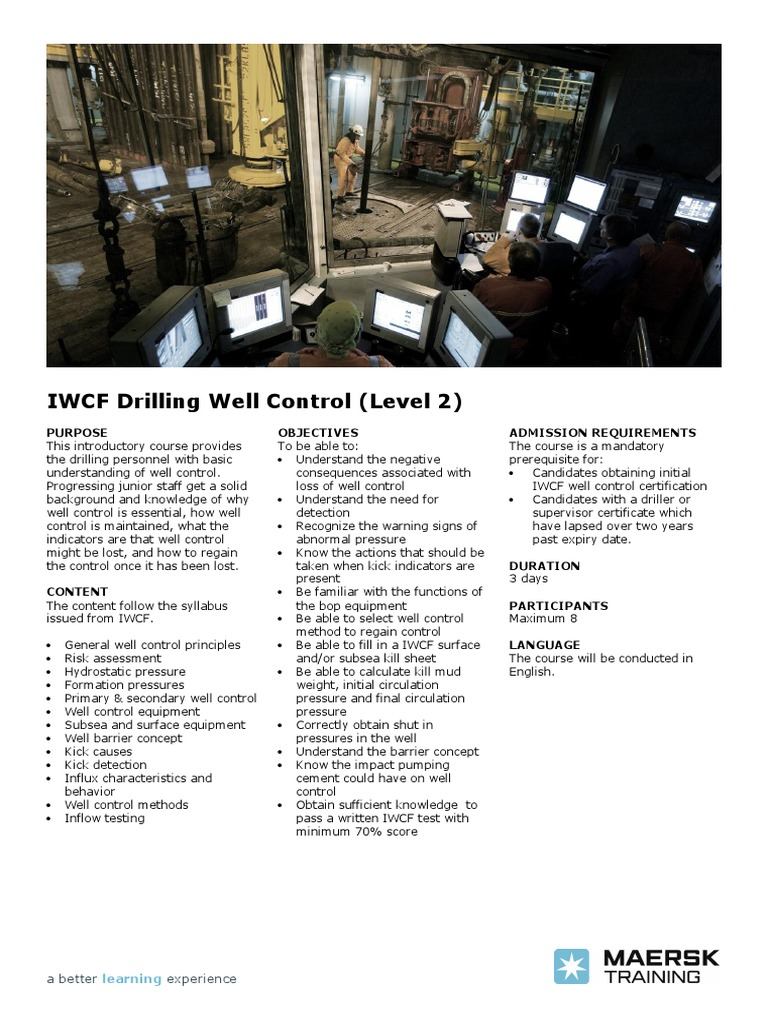 IWCF Drilling Well Control (Level 2).pdf | Psychology & Cognitive Science |  Cognition