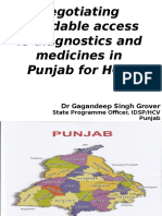 Negotiating Affordable Access to Diagnostics and Medicines in Punjab for HCV