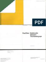 Paul Klee Notebooks Vol 1 the Thinking Eye