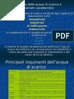 Tipologia Delle Acque Di Scarico e Parametri Caratteristici