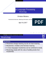 NLP 3 Morphology