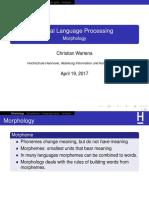 NLP 3 Morphology