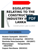 Legislation Related to the construction Industry in Sri Lanka