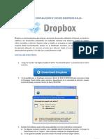 MANUAL DE INSTALACIÓN Y USO DE DROPBOX 0.8.21