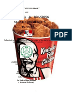 A Project Report on Marketing & Branding Strategies of Kfc in India
