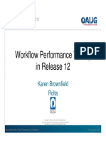 Workflow performance configuration in 12th release