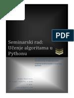 Učenje algoritma u Python-u