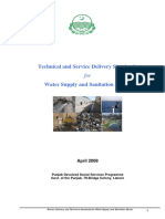 Service Standard for Water Supply