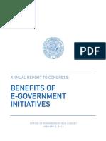 Benefits of E-government Initiatives