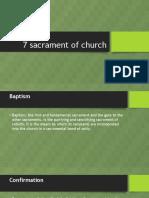 7 Sacrament of Church