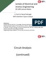 EEE 209 Presentation 3 (Circuits Cont)