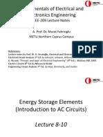 EEE 209 Presentation 4 (Energy Storage Elements)