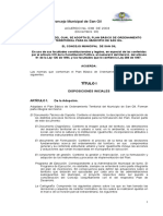 Acuerdo No. 038 Pbot