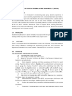 GUIDELINE FOR STUDENT RESEARCH PROJECT