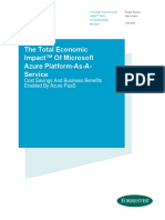 WhitePaper the Total Economic Impact of Microsoft Azure PaaS Forrester