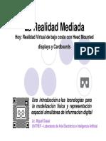 La Realidad Mediada-Hoy Realidad Virtual