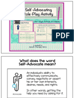 self-advocacy role play activity