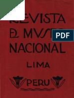 REVISTA DEL MUSEO NACIONAL N° II