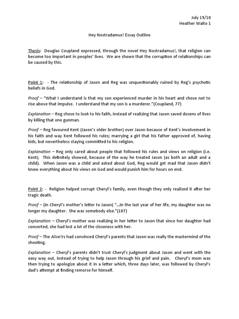 essay outline point proof explanation Welcome to the purdue owl purdue owl research, and outline some of the the rebuttal section and then move point by point through the other.