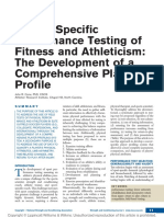 Soccer-Specific Performance Testing of Fitness and Athleticism the Development of a Comprehensive Player Profile.