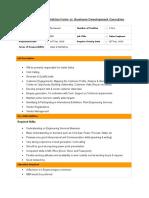 Requisition Form Business Development PES