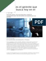 Cómo Es El Gerente Que Más Se Busca Hoy en El Perú