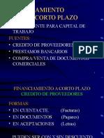 FINANCIAMIENTO A CORTO PLAZO