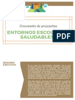 Documento de Propuestas - Entornos Escolares Saludables