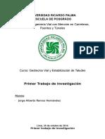 1er Trabajo de Investigacion MECANICA DE SUELOS