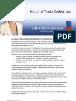 National Trade Cadetships - Fact Sheet