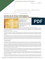 Estudio de Las Tintas Metalogálicas_ de La Historia Escrita a Los Análisis Fisicoquímicos